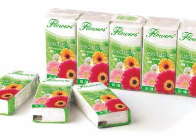 Kapesníčky Flowers,2-vrstvé (Kopírovat)